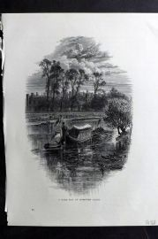 Picturesque Europe 1870s Antique Print. A Gala Day at Hampton Court